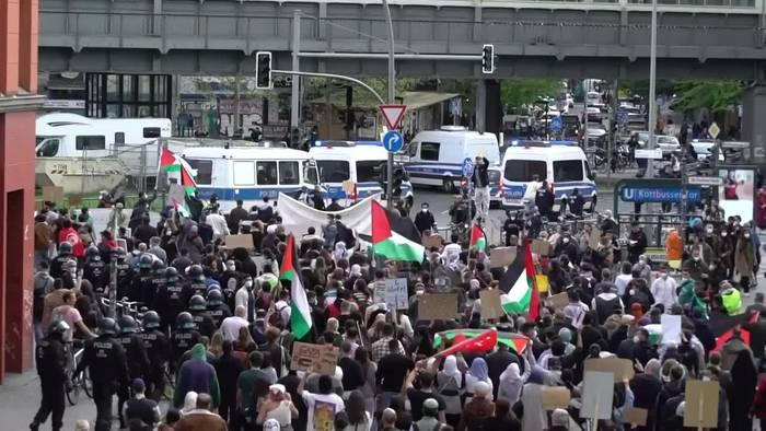 Video: Proteste gegen Vorgehen Israels - Ausschreitungen in Berlin