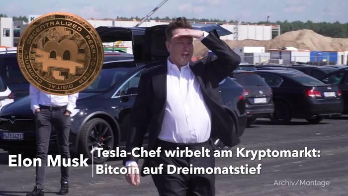 Video: Tesla-Chef Musk wirbelt am Kryptomarkt: Bitcoin auf