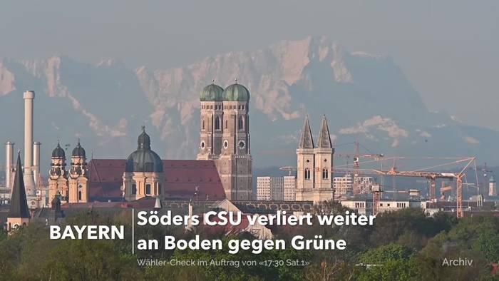 News video: CSU verliert in Bayern weiter an Boden gegen Grüne