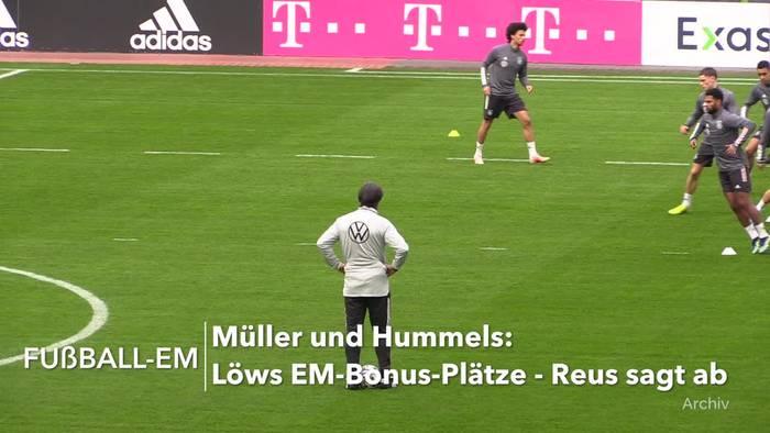 News video: Müller und Hummels: Löws EM-Bonus-Plätze - Reus sagt ab