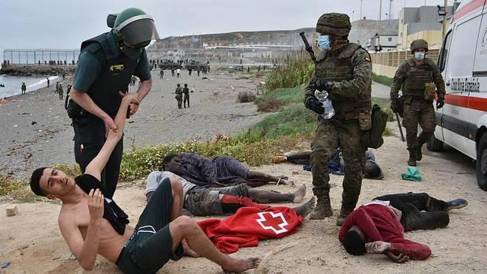 News video: Ceuta: Wie marokkanische Soldaten zu