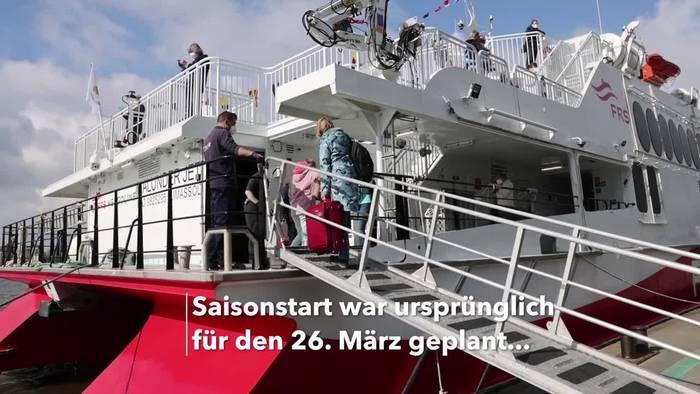 News video: Helgoland-Katamaran «Halunder Jet» in die Saison gestartet