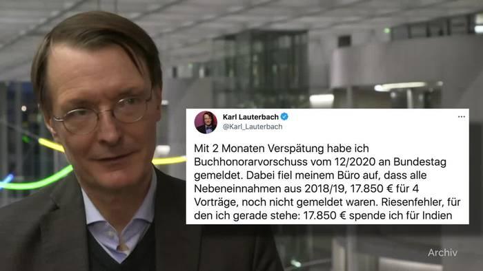 News video: Lauterbach meldet Honorare nach - «Riesenfehler»
