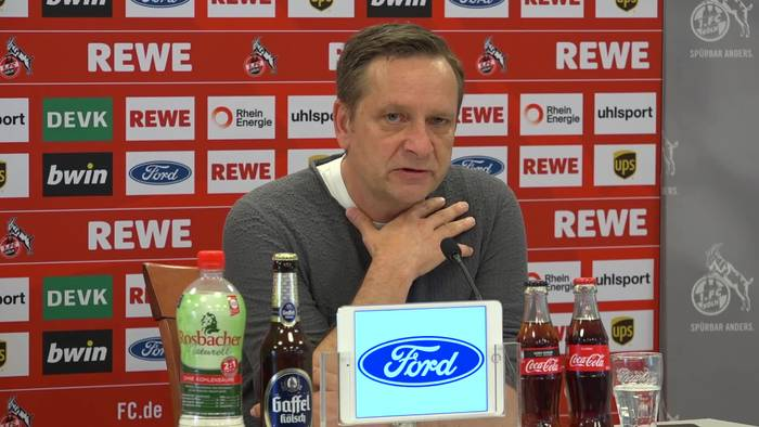 """News video: Kölns Manager Horst Heldt: """"Abstieg ist mit Umsatzverlusten gleichzusetzen"""""""