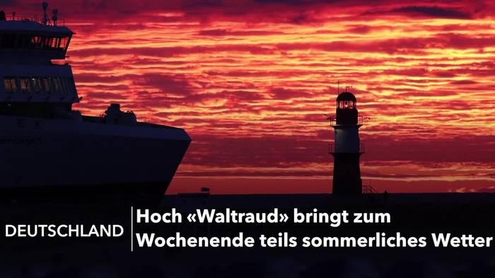 News video: «Waltraud» bringt zum Wochenende mehr Sonne