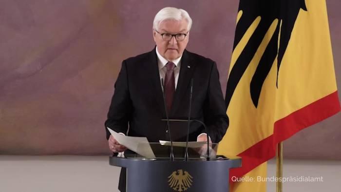 News video: Bundespräsident Steinmeier steht für zweite Amtszeit bereit