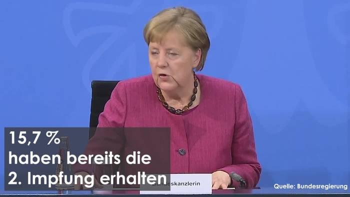 News video: Bundeskanzlerin über den Stand der Impfungen