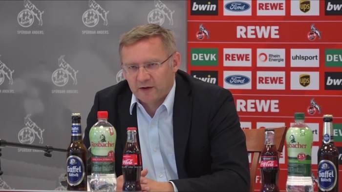 News video: Köln: FC Vorstand zur Trennung von Horst Heldt, einem Sieben-Jahresplan und zu Gerüchten um Mark Uth