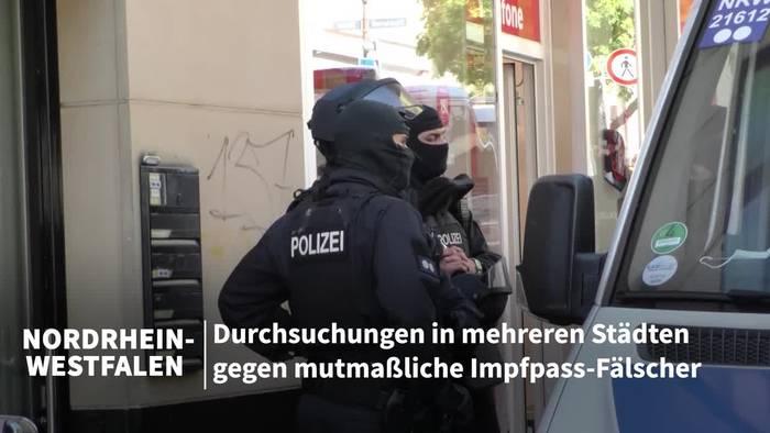 News video: Verdacht auf Impfpass-Fälschungen: Durchsuchungen in NRW