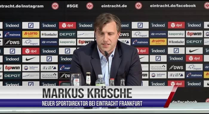 Video: Eintracht Frankfurt: So will der neue Sportchef Markus Krösche Topstürmer André Silva versuchen zu halten