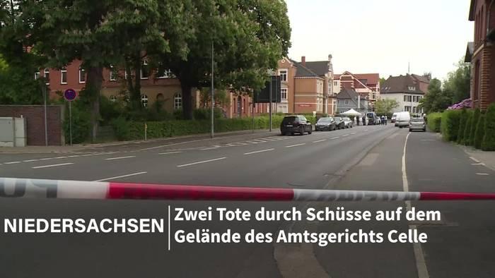 News video: Am Amtsgericht Celle: Mann erschießt Frau und sich selbst