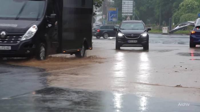 News video: Nach Wochenende: Wetterdienst warnt vor weiteren Unwettern