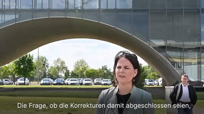 News video: Baerbock: Keine weiteren Korrekturen am Lebenslauf