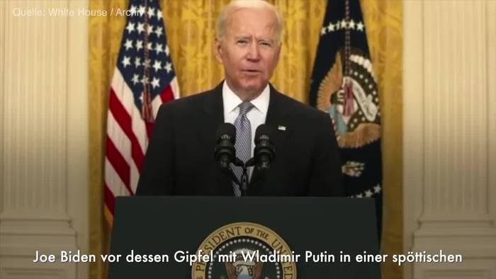 News video: Trump an Biden: Richten Sie Putin herzliche Grüße aus