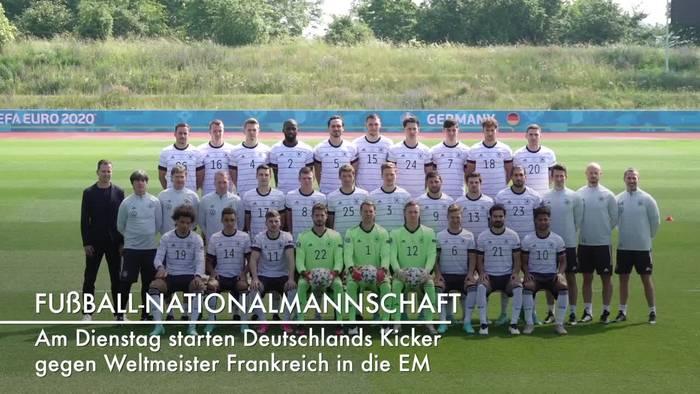 News video: EM: Das Team der deutschen Fußball-Nationalmannschaft