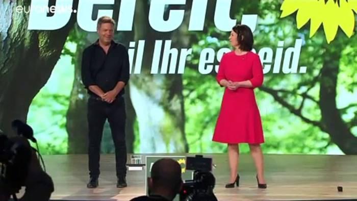 News video: 98,5 Prozent: Grünen-Parteitag bestätigt Baerbock als Kanzlerkandidatin