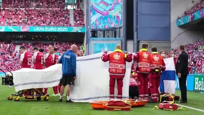 Video: Euro 2020: Däne Christian Eriksen bei Bewusstsein