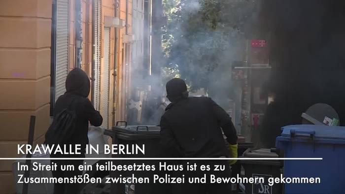 News video: Krawalle in Berlin: Streit um besetztes Haus