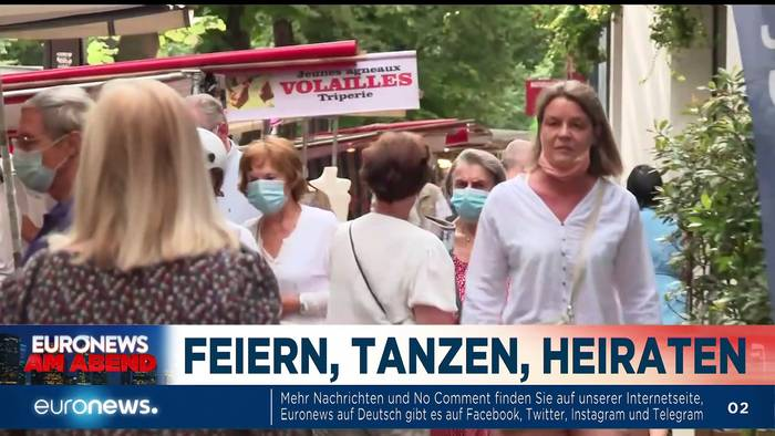 News video: Kommt jetzt der coole Sommer - fast ohne Masken? Euronews am Abend 17.06.
