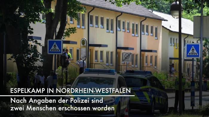 News video: Tödliche Schüsse in Espelkamp: Zwei Opfer