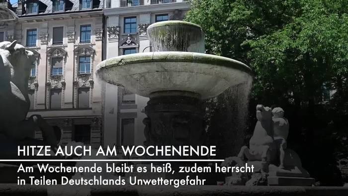 News video: Hitzewelle in Deutschland - Auch Wochenende wird extrem heiß