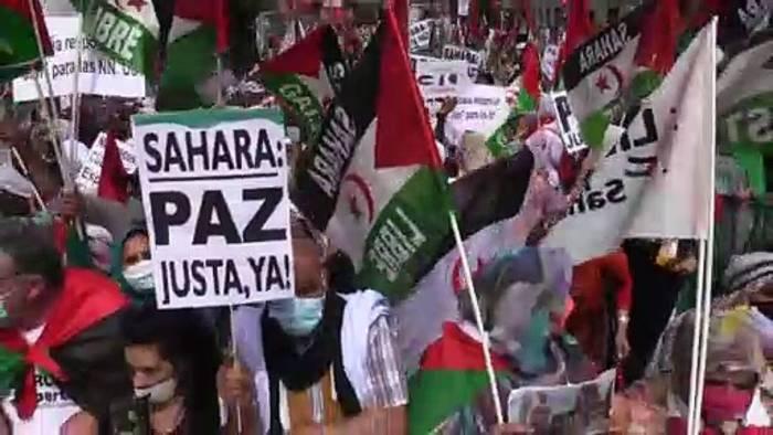 News video: Westsahara-Demonstrationen in Madrid