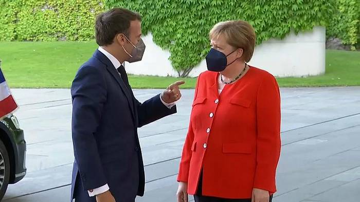 News video: Macron bei Merkel: