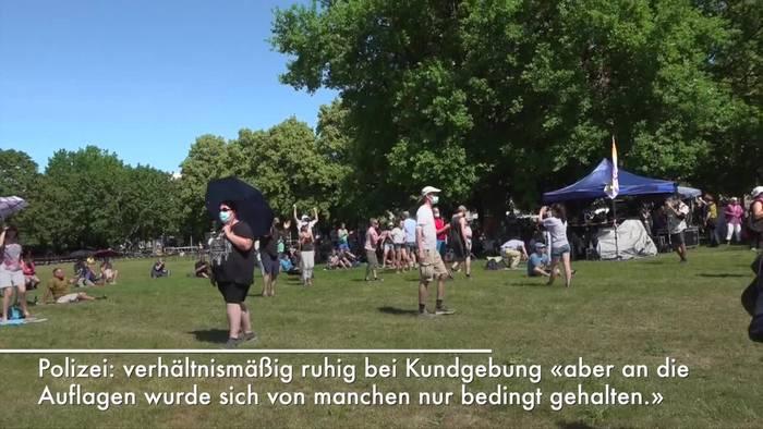 News video: «Querdenken»-Demo in Hannover - Verstöße gegen Schutzregeln
