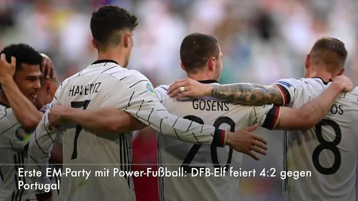 News video: EM-Party mit Power-Fußball: DFB-Elf mit 4:2 gegen Portugal
