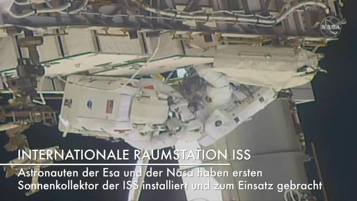 News video: Sechs Stunden Weltraumspaziergang an der ISS