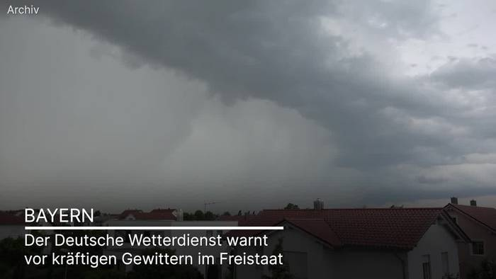 News video: Bayern: Kräftige Gewitter mit Unwetterpotenzial erwartet