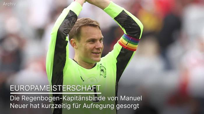 News video: UEFA prüfte kurzzeitig Neuers Regenbogen-Kapitänsbinde