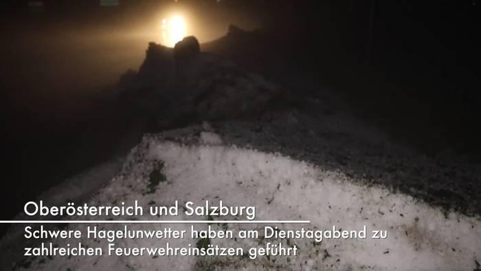 Video: Oberösterreich und Salzburg: Millionenschäden nach