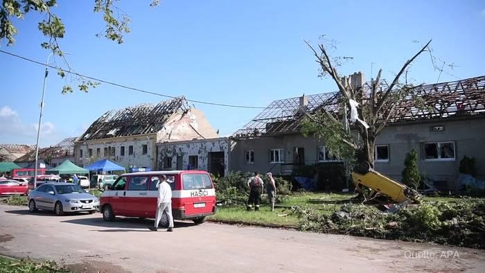 News video: Mindestens drei Tote nach Unwetter mit Tornado in Tschechien