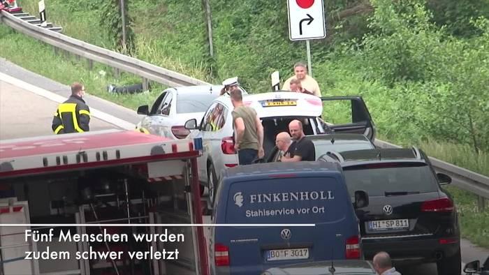 Video: Zwei Tote nach Unfall auf A2 bei Dortmund