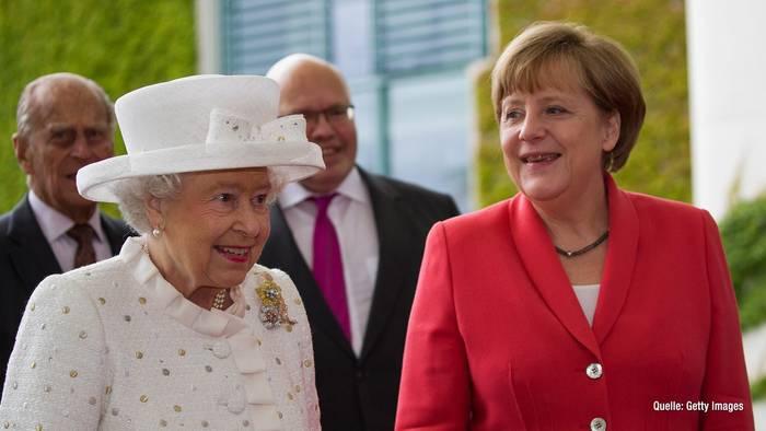News video: Angela Merkel trifft erneut auf Queen Elizabeth II.