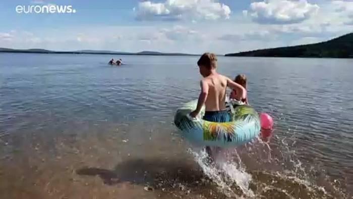 Video: Hitze in Skandinavien: Über 30 Grad nördlich des Polarkreises