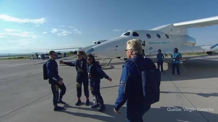 News video: Milliardär Branson noch vor Bezos in den Weltraum geflogen