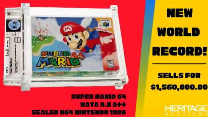 Video: Neuer Rekord: Super Mario 64 für 1,23 Millionen Euro verkauft