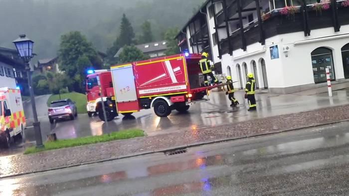 News video: Unwetter führen zu Hochwasser im Süden und Osten Bayerns