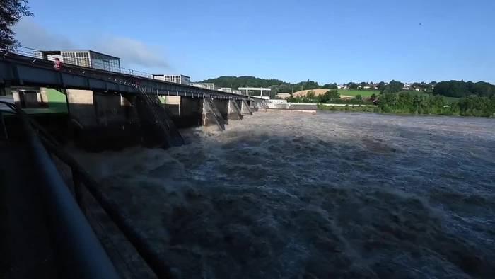 News video: Bayern: Dramatisches Hochwasser in Passau bleibt aus