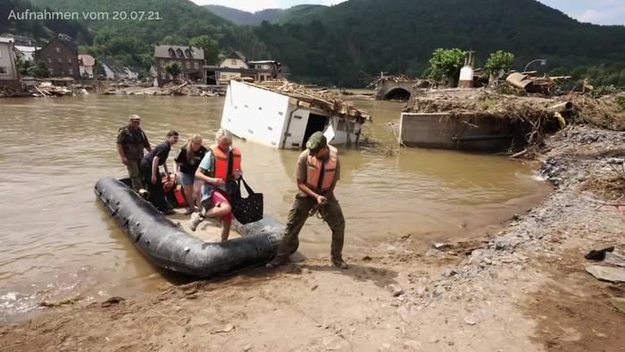 News video: Bundesregierung will Soforthilfe für Hochwasseropfer