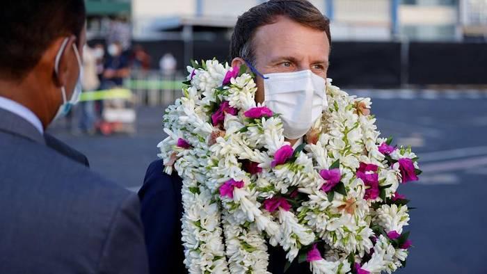 Video: Empfang mit Blumen: Macron besucht Französisch-Polynesien