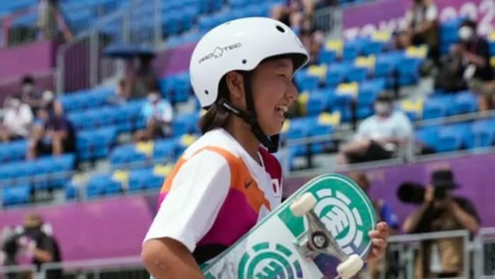 Video: Skate-Duell der 13-Jährigen: Gold für Japan, Silber für Brasilien