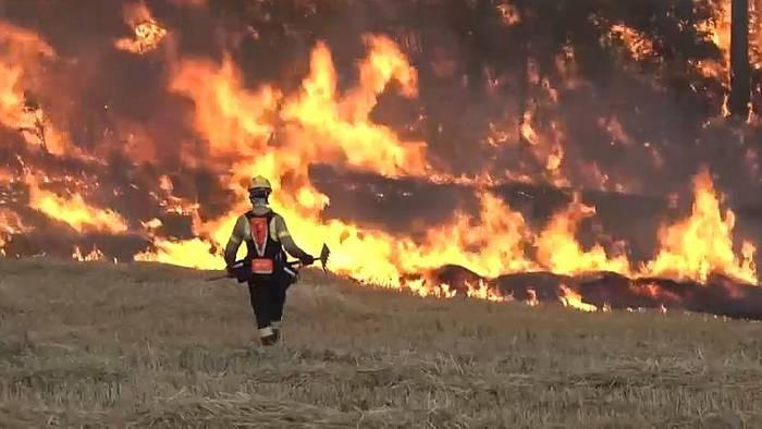 News video: Waldbrände wüten in Spanien - Feuer in Katalonien außer Kontrolle