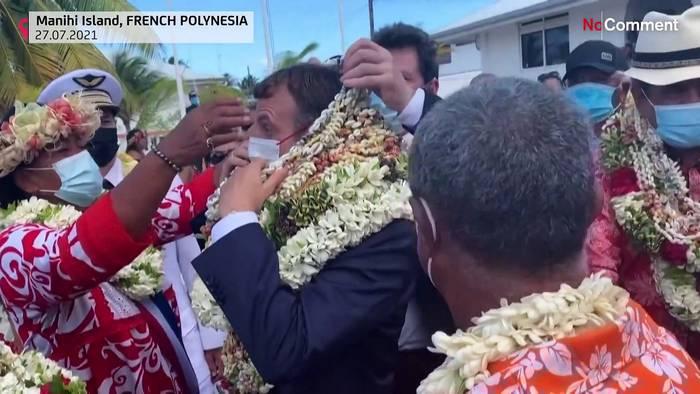 News video: Blumenkränze und Tsunami-Schutz: Macron in Französisch-Polynesien
