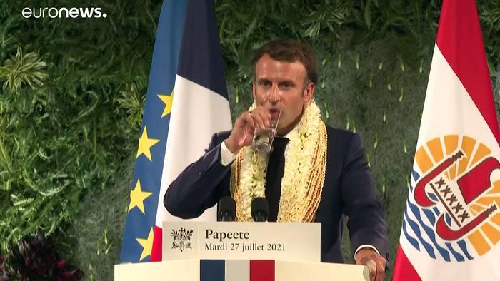 Video: Atomtests in Französisch-Polynesien: Macron gesteht Schuld ein