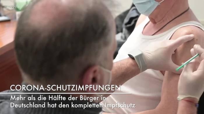News video: Deutschland: Mehr als die Hälfte vollständig geimpft