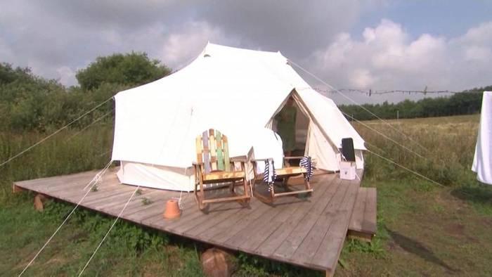 News video: Glamping, der Trend auf europäischen Campingplätzen