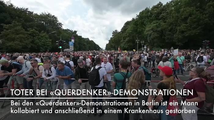 News video: «Querdenker»-Demo Berlin: 49-Jähriger kollabiert und stirbt